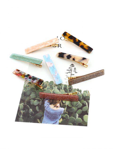 Pince à Cheveux Géométrique en Couleur de Bonbon en Acrylique - Multi  Mobile