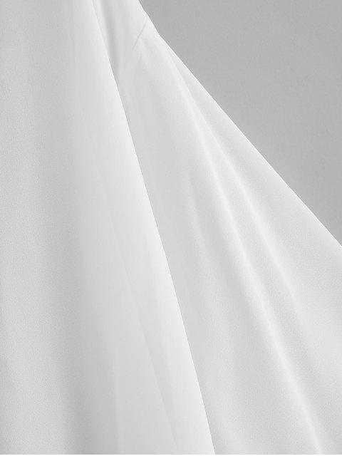 Haut Couverture Kimono Semi-transparent en Mousseline - Blanc M Mobile