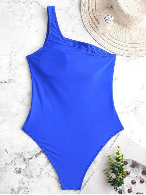 ZAFUL Knot Cutout Bañador de una pieza de un hombro - Azul Cobalto S Mobile