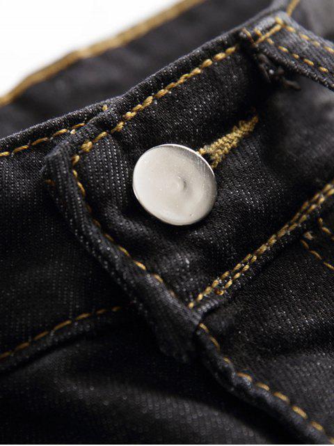 Pantalones cortos de mezclilla casual Destroy Wash Scratch - Gris Carbón 40 Mobile