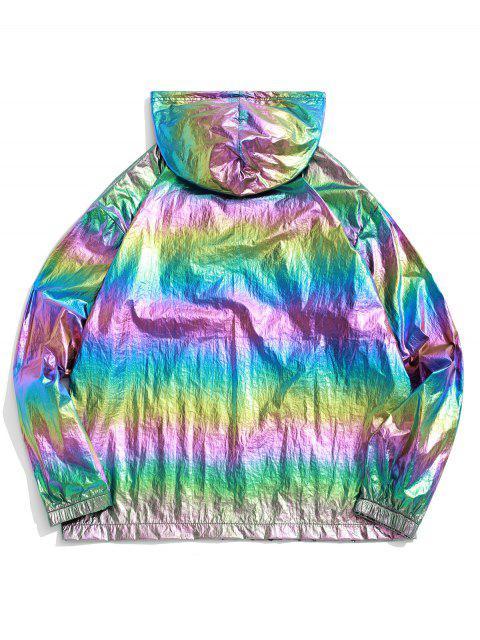 ZAFUL Sweat à Capuche Coloré Métallisé Réfléchissant - ACU Camouflage M Mobile