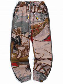 Tribal Geometric Print Jogger Pants