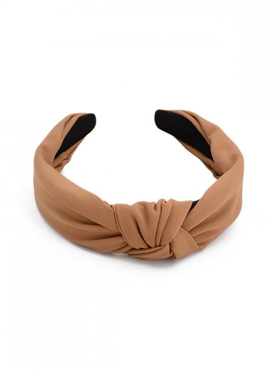 Fascia per capelli stile semplice - Khaki scuro