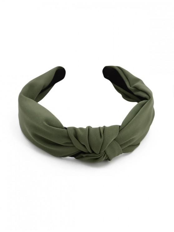 outfit Simple Style Wide Headband - DARK GREEN