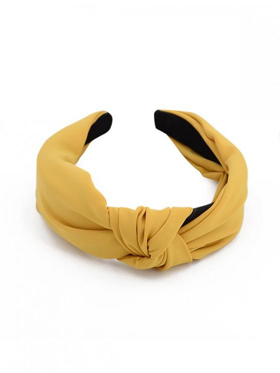 shop Simple Style Wide Headband - YELLOW