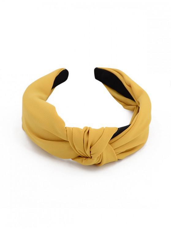 簡約風格寬頭帶 - 黃色