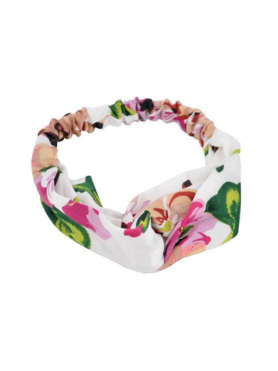 Piccola fascia con motivo floreale - Bianca