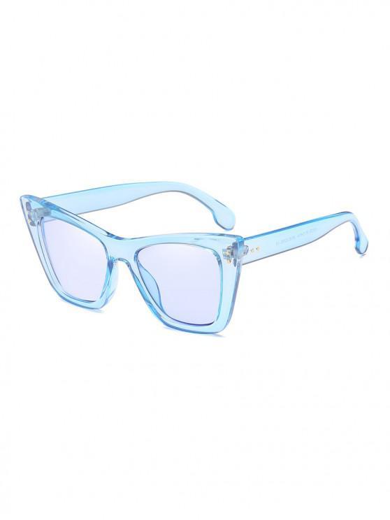 women UV Protection Outdoor Square Sunglasses - DENIM BLUE