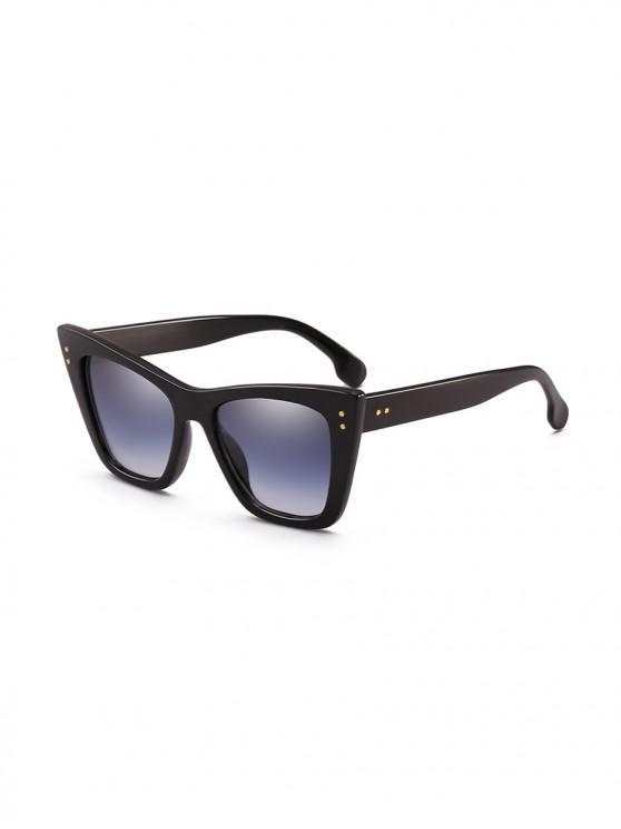 ladies UV Protection Outdoor Square Sunglasses - BLACK