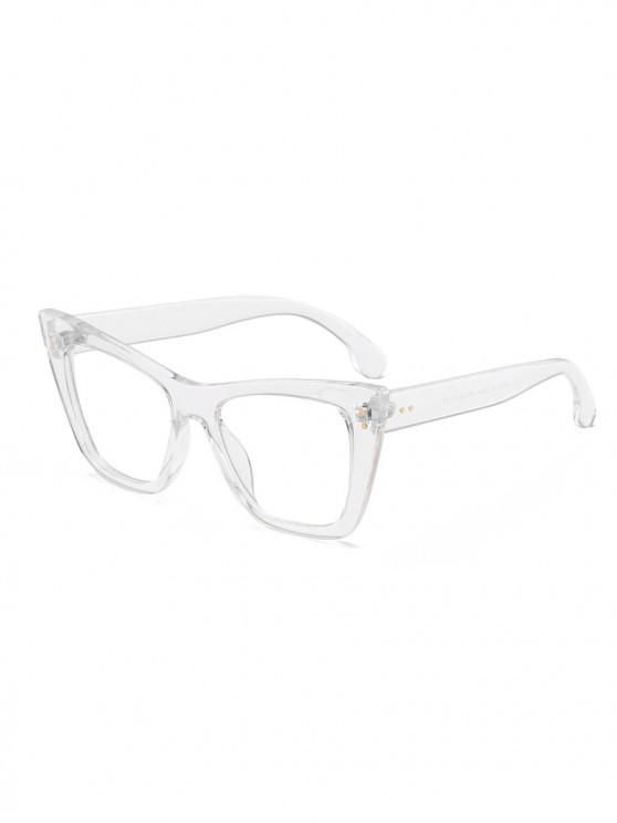 women UV Protection Outdoor Square Sunglasses - TRANSPARENT