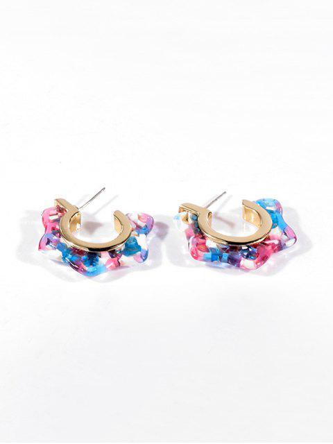 Boucles d'Oreilles Etoile Ouverte en Acrylique - Multi-A  Mobile