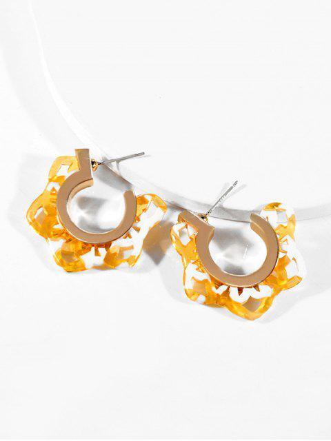 Boucles d'Oreilles Etoile Ouverte en Acrylique - Multi-B  Mobile