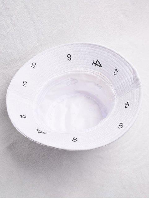 Bonnet Seau Décontracté Figure Imprimée - Blanc  Mobile