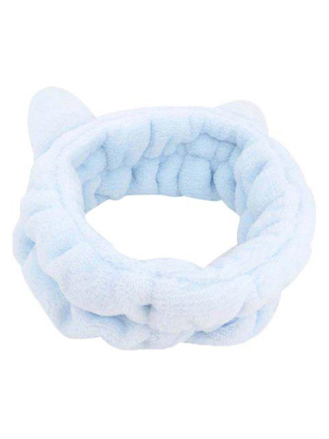Bandeau Décoration d'Oreille de Chat en Laine - Bleu de Mer  Mobile