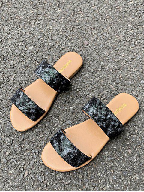 Sandales Motif de Marbrure à Deux Brides - Noir EU 39 Mobile