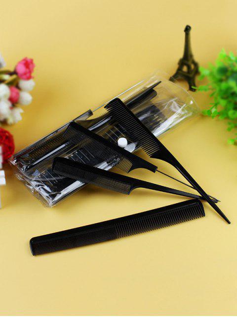 Peigne à Cheveux Massage Antistatique 10 Pièces - Noir  Mobile