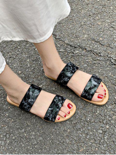 Sandales Motif de Marbrure à Deux Brides - Noir EU 43 Mobile