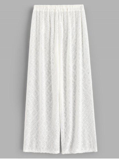 Прозрачные Кружевные Брюки-клеш - Белый S Mobile