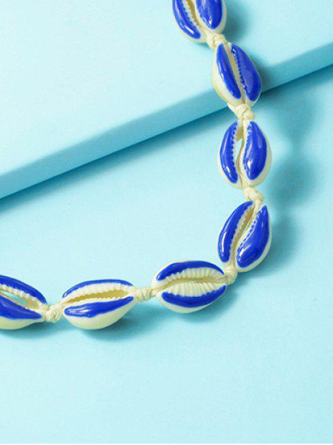 Collier de Plage Coquille à Corde - Bleu Océan  Mobile