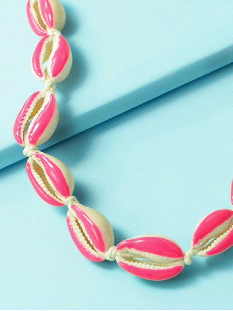 Collar Cuerda Concha - Rosa Brillante  Mobile