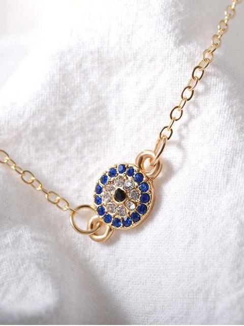 Bracelet de Cheville de Plage Rond avec Strass - Or  Mobile