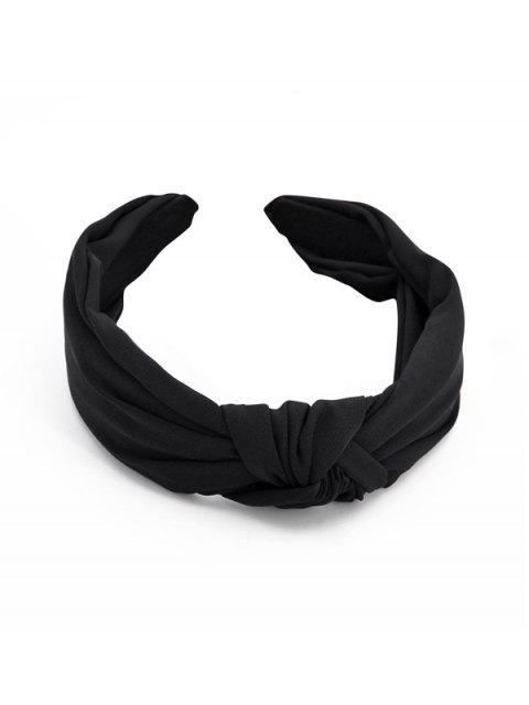 Простой стиль Широкая Головная Повязка - Чёрный  Mobile