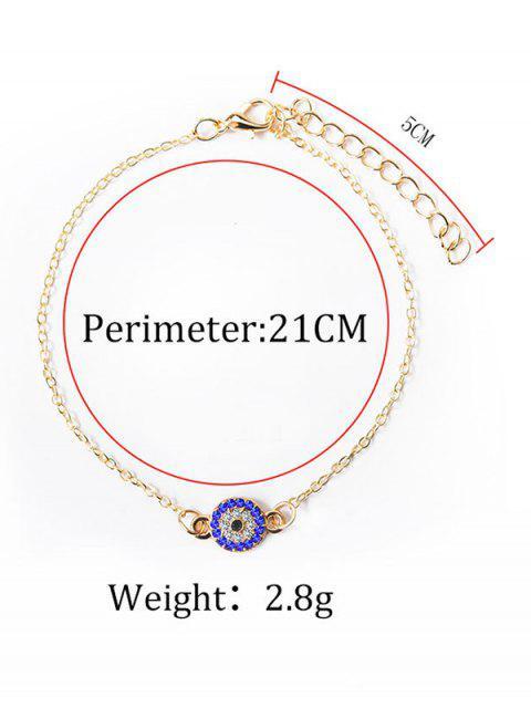 Bracelet de Cheville de Plage Rond avec Strass - Argent  Mobile