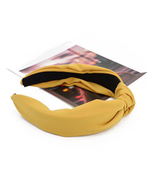 shop Simple Style Wide Headband - YELLOW  Mobile
