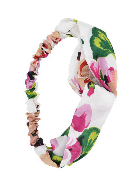 shops Tiny Floral Pattern Hairband - WHITE  Mobile