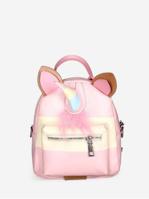Sac à Dos Etudiant Motif de Licorne - Rose Cochon  Mobile