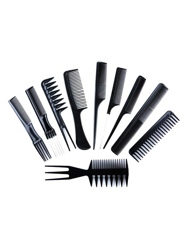 10Pcs Anti-statique Massage Peigne à Cheveux