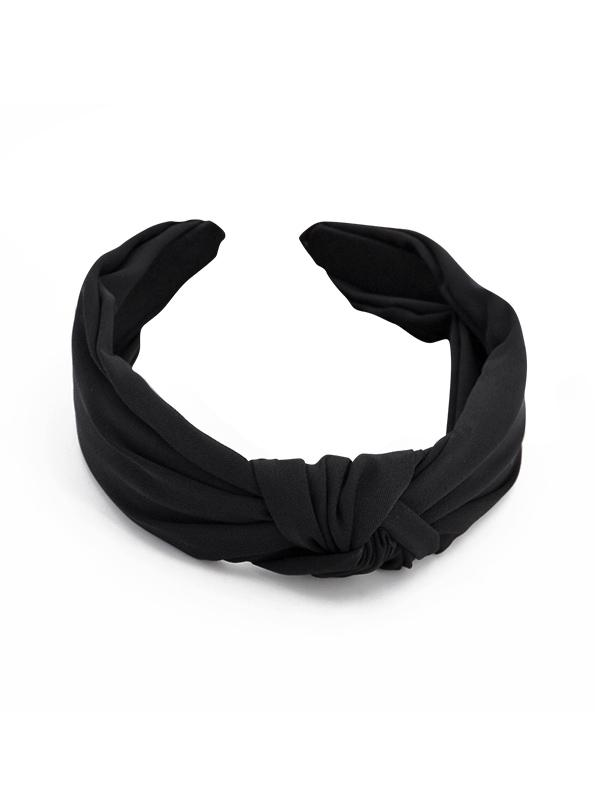 Simple Style Wide Headband, Black