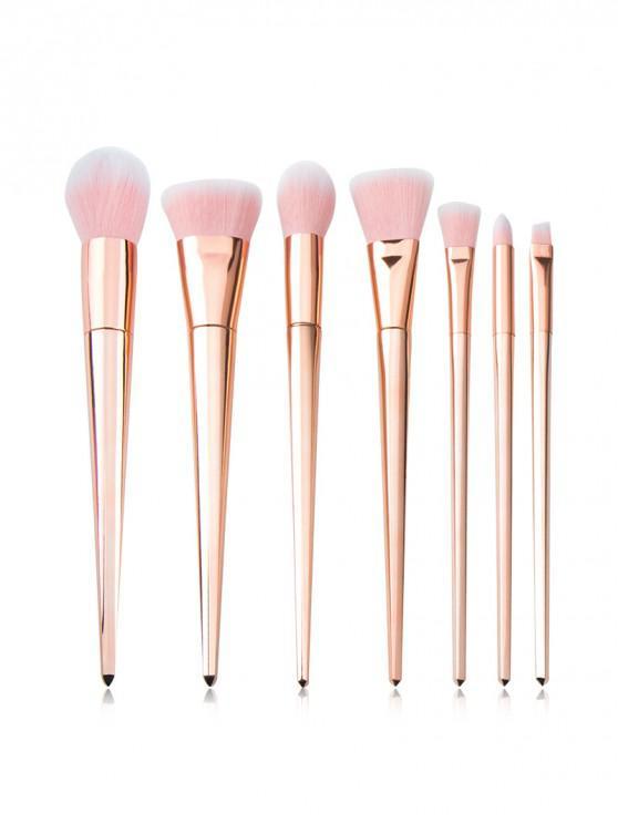 new 7Pcs Powder Professional Makeup Brush Set - ROSE GOLD