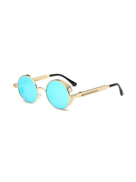 Lunettes de soleil rétro monture ronde en métal - Bleu Cristal  Mobile