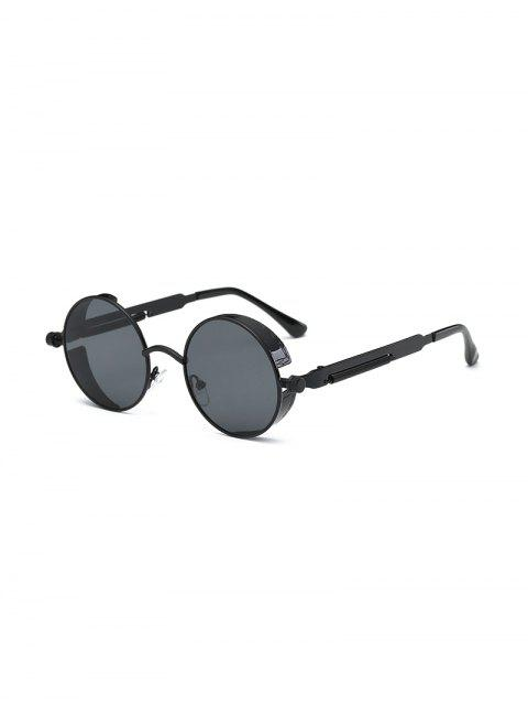 Винтажные Круглые Металлические Солнцезащитные Очки - Черный угорь  Mobile