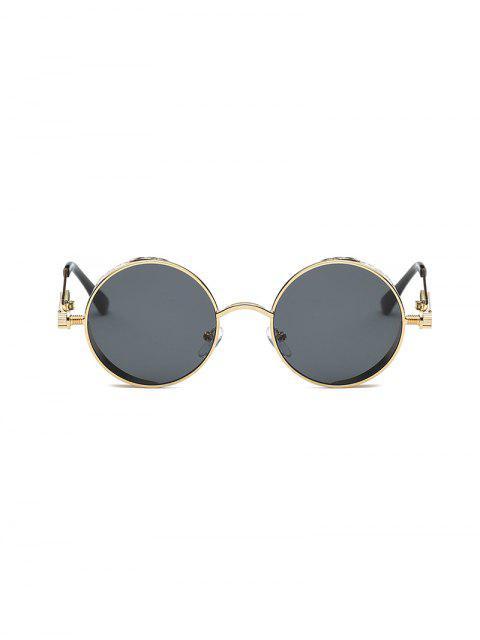 outfit Retro Round Metal Frame Sunglasses - BLACK  Mobile