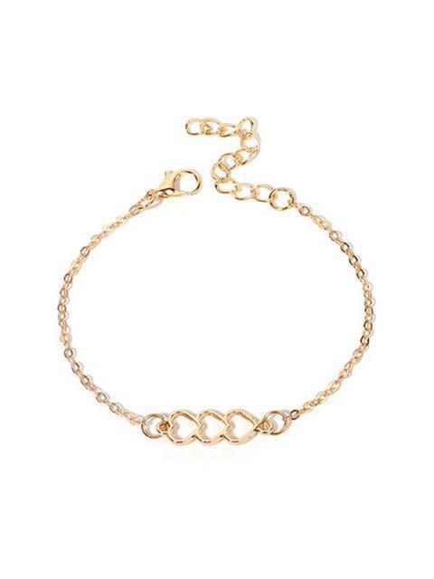 Bracelet Simple à Chaîne Cœur Evidé - Or  Mobile