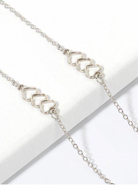 Bracelet Simple à Chaîne Cœur Evidé - Argent  Mobile