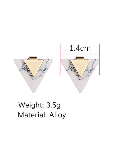 Boucles d'Oreilles Triangle Marbre Imprimé - Blanc  Mobile