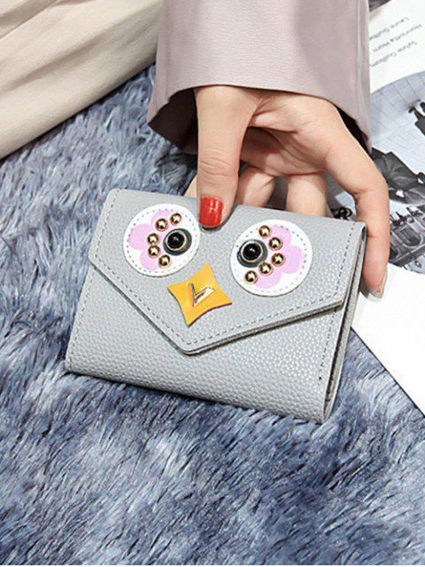 Porte-monnaie Mignon Hibou Mignon en Cuir PU - Oie grise  Mobile
