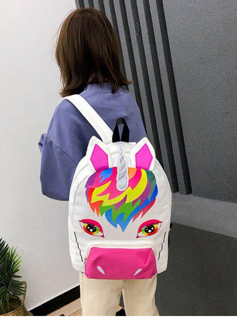 Sac à dos étudiant à motif Licorne élégant - Blanc  Mobile