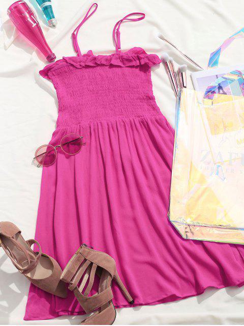 ZAFUL - Robe caraco à volants et corsage froncé - Rose Vif XL Mobile