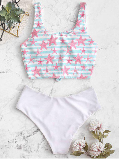 ZAFUL Reversible Starfish Striped Tankini Anudado Anudado - Multicolor-A M Mobile