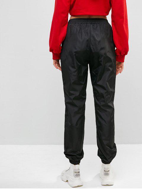 Cortavientos Slogan Graphic Jogger Pants - Negro M Mobile
