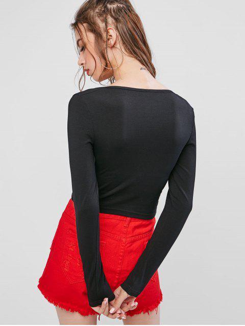低幫繫帶七分褲 - 黑色 S Mobile