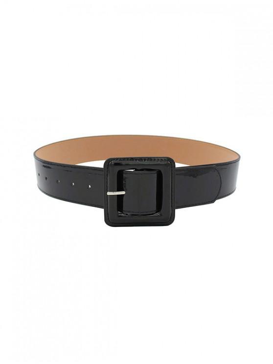 Cintura con fibbia in pelle punk - Nero