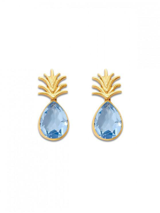 best Rhinestone Pineapple Stud Earrings - BLUE