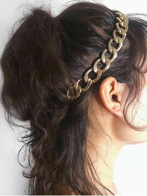 new Thick Chain Elastic Headband - GOLD