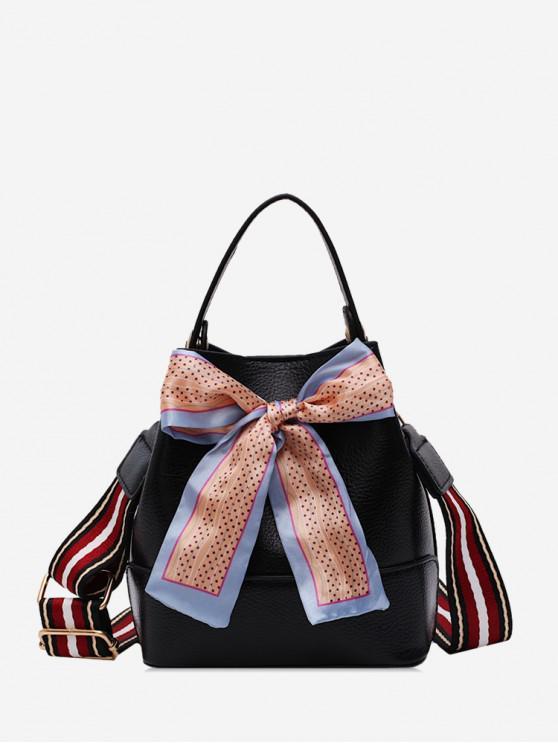 trendy Bowknot Design Shoulder Bag - BLACK
