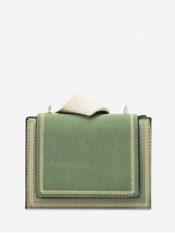 fancy Simple Solid Shoulder Bag - DARK SEA GREEN